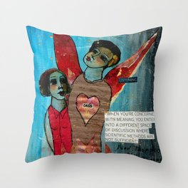 Listening Oasis Throw Pillow