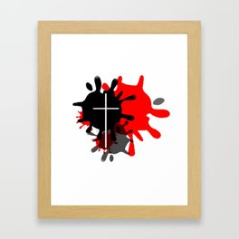 Cross Splash (Red) Framed Art Print