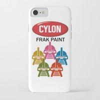 battlestar iPhone & iPod Cases featuring Cylon Frak Paint by Don Calamari