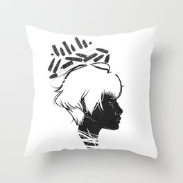 Profile Crown Throw Pillow