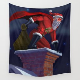 Super Santa Wall Tapestry