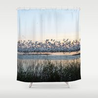 rush Shower Curtains featuring Rush Hour by Randy Sager