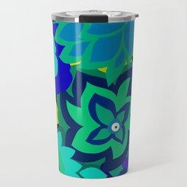 CAMBRIA, ART DECO FLORALS: SEASIDE CHIC Travel Mug