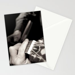 Playing the guitar Stationery Cards