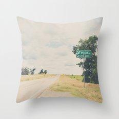 Texas state line ... Throw Pillow