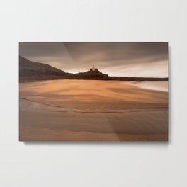 Mumbles lighthouse Swansea Metal Print