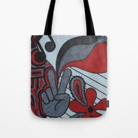 60s Tote Bags featuring 60s Vibe by Tanya Thomas