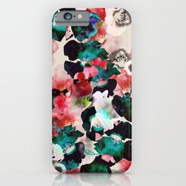 Vibrant flower garden iPhone Case