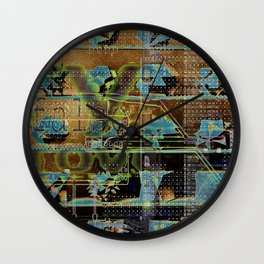 Glitch Cabinet Wall Clock