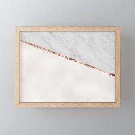 Park Avenue pearl marble Framed Mini Art Print