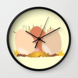 Three Chicken Eggs Wall Clock