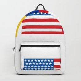 colombian american half colombia half america flag tee Backpack
