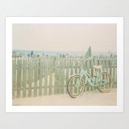 Beach Cruiser Bicycle Art Print