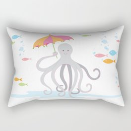 Sweet octopus with a Parasol Rectangular Pillow
