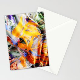 Fantasy Bird of Paradise by Artist McKenzie (www.McKenzieartstudio.com) Stationery Cards