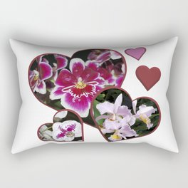 Hearts and Orchids Rectangular Pillow