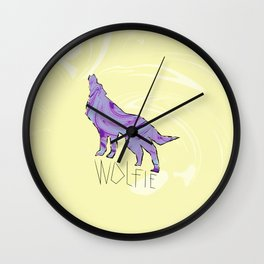 Howling Wolf (Wolfie) Wall Clock