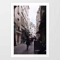 A Stroll Through Paris Art Print