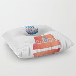 nautical lighthouse Floor Pillow