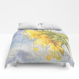 Helianthus annuus: Sunflower Abstraction Comforters