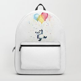 Birthday Panda Balloons Cute Animal Watercolor Backpack
