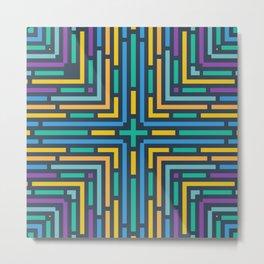 Geometric labyrinth Metal Print