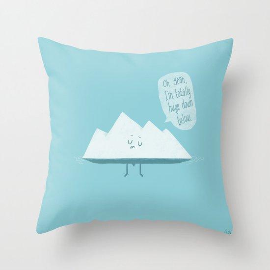 What LIES Below Throw Pillow