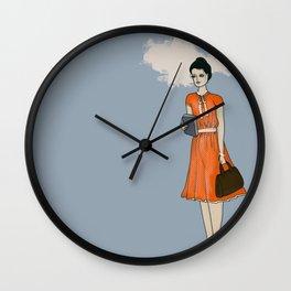 Girl in Service - Vanilla Wall Clock