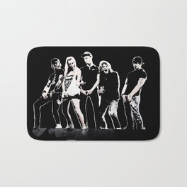 WARNER DRIVE - LIVE CURRENT WALL series - BLACK version Bath Mat
