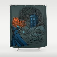 hallion Shower Curtains featuring Follow Your fate by Karen Hallion Illustrations