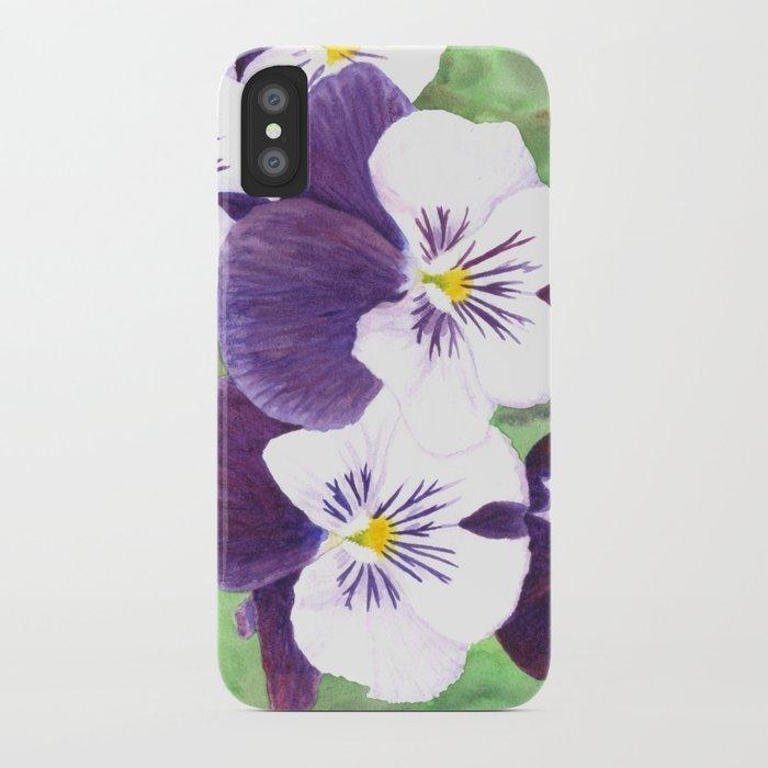 Pansies flowers iPhone Case