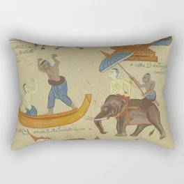 HINDU ASTROLOGY Mythology Gods Rectangular Pillow
