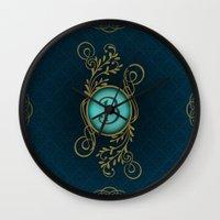 monogram Wall Clocks featuring Monogram B by Britta Glodde