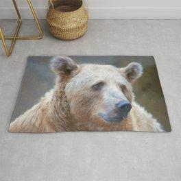 Bear Necessities      (digital painting) Rug