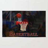 basketball Area & Throw Rugs featuring Basketball by LoRo  Art & Pictures