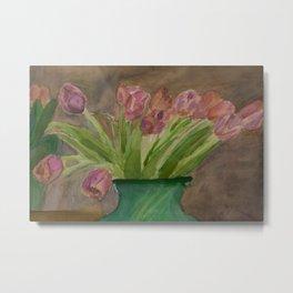 April Tulips Metal Print