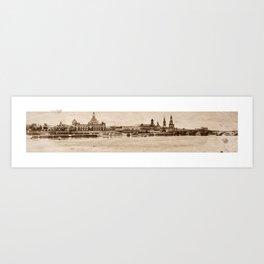 Elbufer in Dresden V 2 Art Print