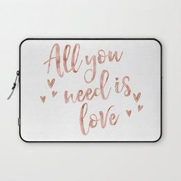 All you need is love - rose gold and hearts Laptop Sleeve
