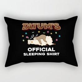 Tatum Name Gift Sleeping Shirt Sleep Napping Rectangular Pillow