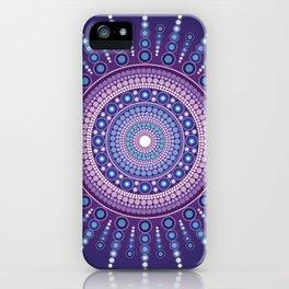 Blue Moon Mandala iPhone Case