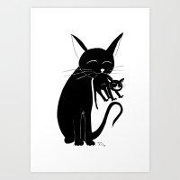 Mama Cat Art Print