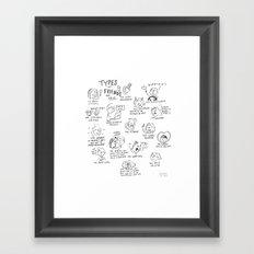 Types of friends Framed Art Print
