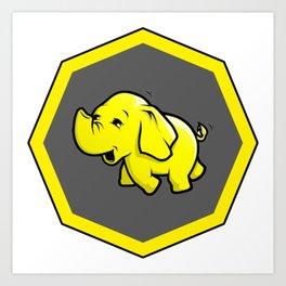 hadoop Stickers Elephant Programming Big data Sql  Developer Art Print