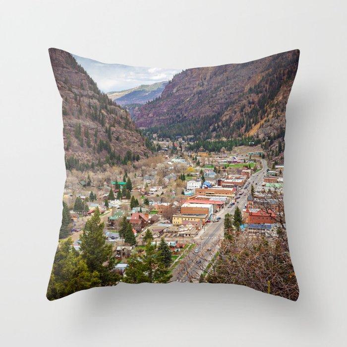 Ouray Colorado Throw Pillow