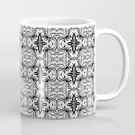 Decorative pattern in black and white Coffee Mug