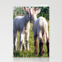 silence of the lambs Stationery Cards featuring Spring Lambs by Valann