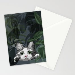 Jungle cat at night Stationery Cards