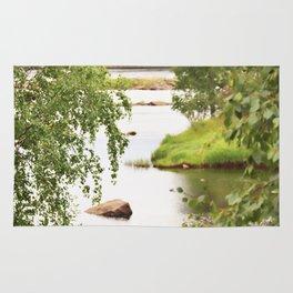 Riverside Kemijoki Finland Rug