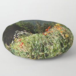 Mountain garden Floor Pillow