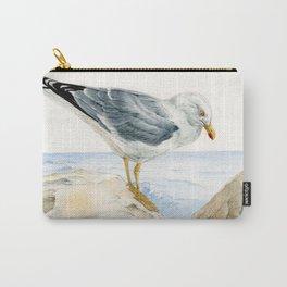 Seagull  - nesting bird on the Ligurian coast Carry-All Pouch